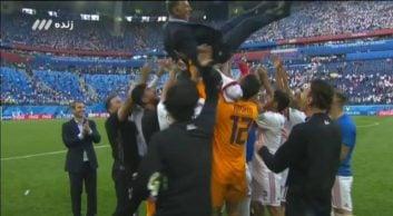 کلیپی از صحبت های پایان بازی تیم ملی ایران و مراکش