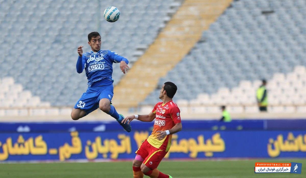مجید حسینی مدافع 21 ساله و مورد اعتماد تیم ملی فوتبال ایران ، پارس فوتبال