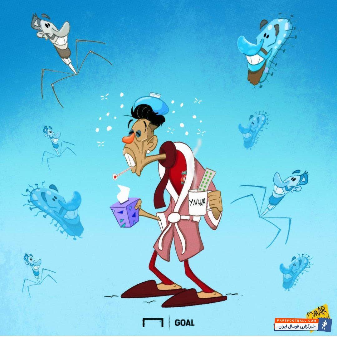 کاریکتور جالب در مورد اظهارات راموس در مورد علت سرما خوردگی فیرمینو