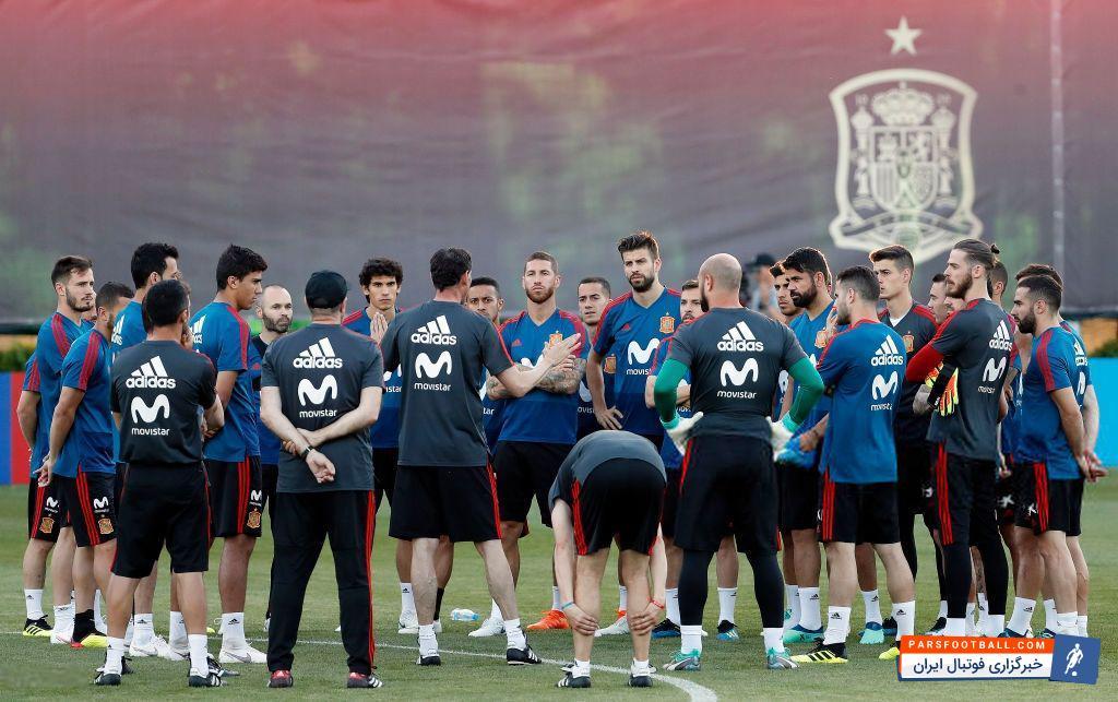 هیرو سرمربی جدید تیم ملی اسپانیا است لاروخا پس از سپری کردن روزی پر حادثه دیروز چهارشنبه با فرناندو هیرو سرمربی جدیدش، به تمرین پرداخت.