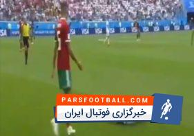 رامین رضاییان ؛ شوخی خنده دار با دایو رامین رضاییان در بازی ایران و مراکش