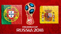 بازی تیم ملی فوتبال پرتغال و اسپانیا