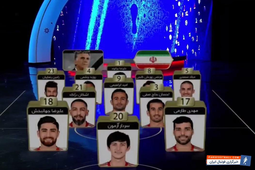 تیم ملی ایران - مراکش ؛ ترکیب تیم ملی ایران برابر مراکش در جام جهانی 2018