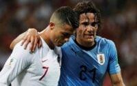 کاوانی در دیدار برابر تیم فوتبال پرتغال در جام جهانی 2018 روسیه دچار مصدومیت شد