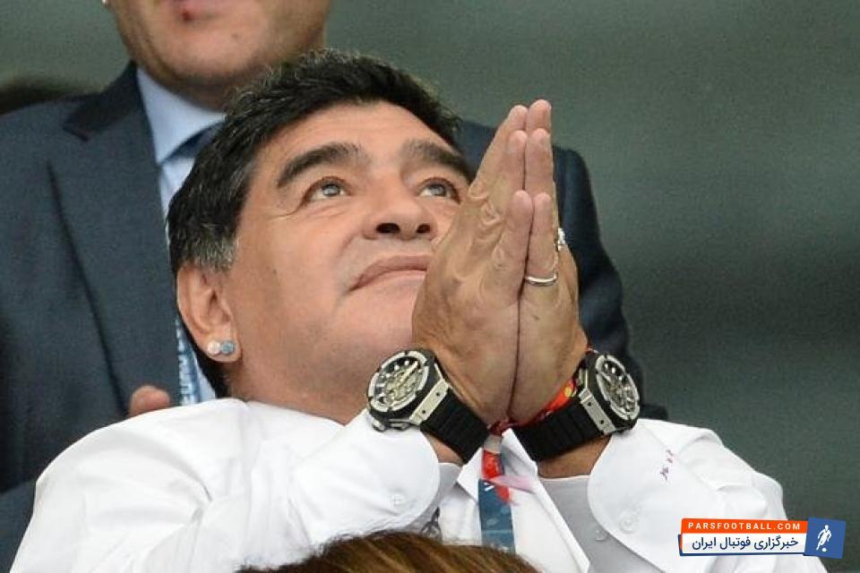 مارادونا : به نظر من آرژانتین هرگز نتوانست در حد فرانسه بازی کندمن لئو مسی را در این بازی تنها می دیدم