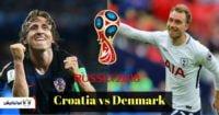 بازی کرواسی دانمارک