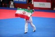 اهدای مدال طلا به سعید رجبی تکواندو کار ایران