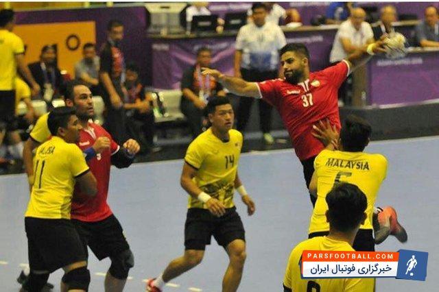 ایران ؛ هندبال بازی های آسیایی جاکارتا ؛ هندبال ایران 23 - هندبال بحرین 29