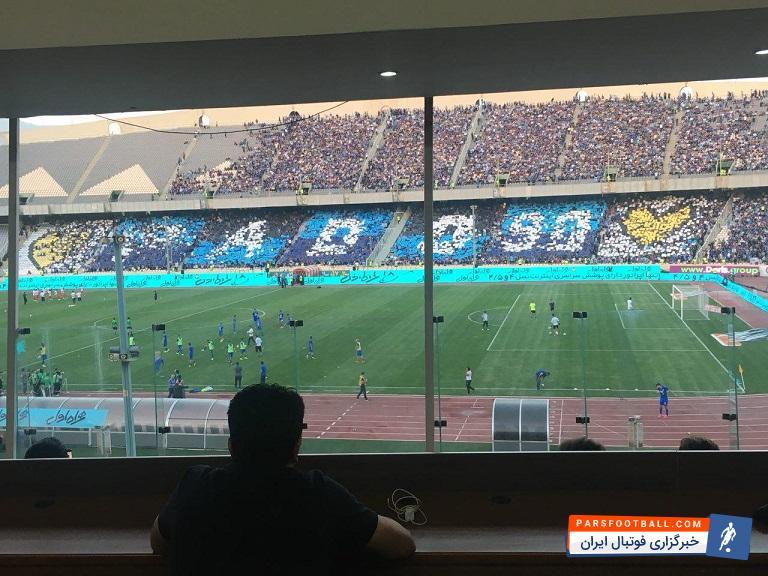 کانون هواداران استقلال امروز به مناسبت بازگشت پادوانی به استادیوم آزادی طرح موزاییکی برای او درست کردند تا به این شکل از مدافع تیم شان استقبال کنند.
