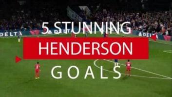 5 گل برتر جوردن هندرسون برای لیورپول