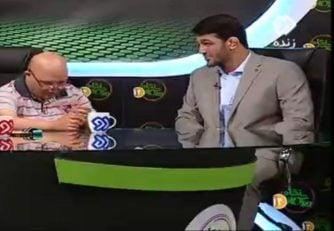 حسن یزدانی ؛ غافلگیری حسن یزدانی قهرمان کشتی ایران از دیدار با علیرضا در برنامه زنده