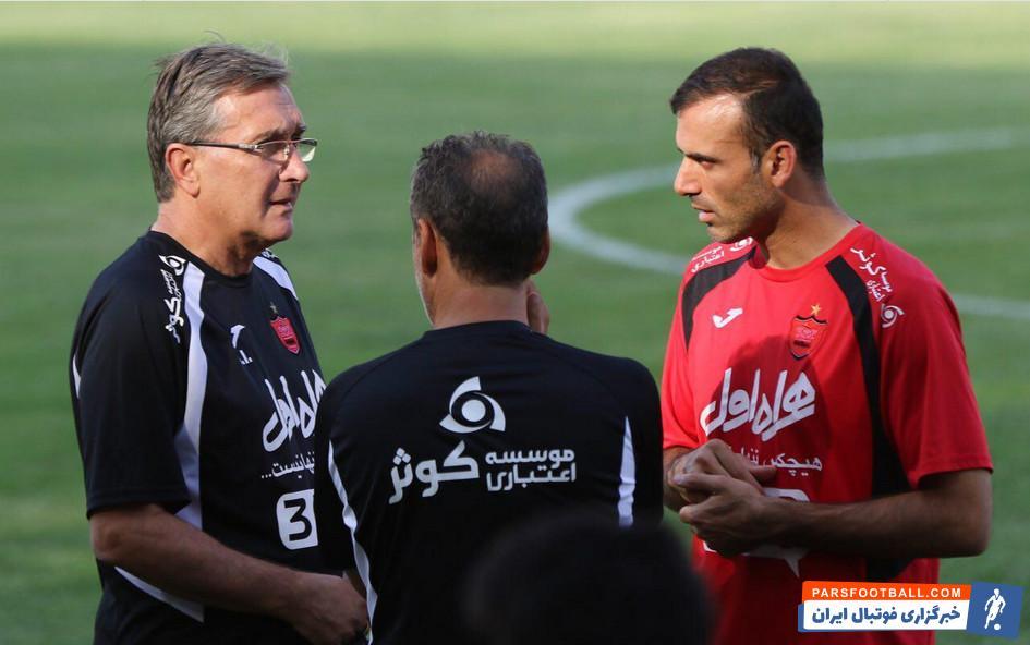 حسینی ؛ سید جلال حسینی مسئول روحیه دادن به بازیکنان پرسپولیس است
