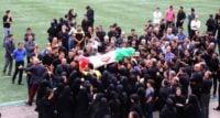 مراسم تشییع پیکر مجید غلام نژاد در ورزشگاه عضدی
