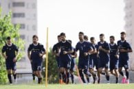 بازیکنان تیم ملی ایران در تمرین دوشنبه با البسه تمرینی جام جهانی کارشان را پیگیری کردند بازیکنان تیم ملی ایران با پیراهنهای این کمپانی تمرین خواهند کرد.