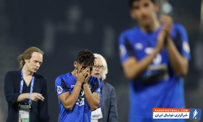 تصاویری از حسرت و اندوه بازیکنان استقلال از حذف از لیگ قهرمانان آسیا