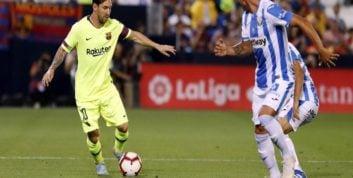 عملکرد لیونل مسی در دیدار لگانس برابر بارسلونا
