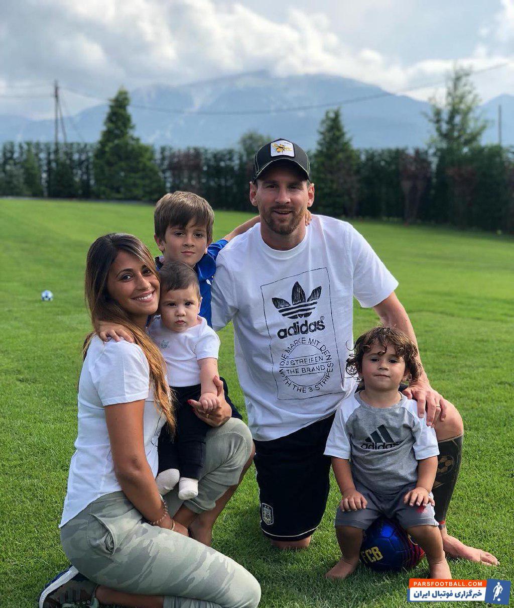 لیونل مسی در فیفادی هم از فرصت استفاده کرده و مشغول استراحت با خانواده است.