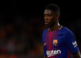 دمبله ؛ عملکرد عثمان دمبله ستاره بارسلونا در دیدار برابر آیندهوون در لیگ قهرمانان