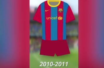 مروری بر لباس بارسلونا از سالیان گذشته تا کنون