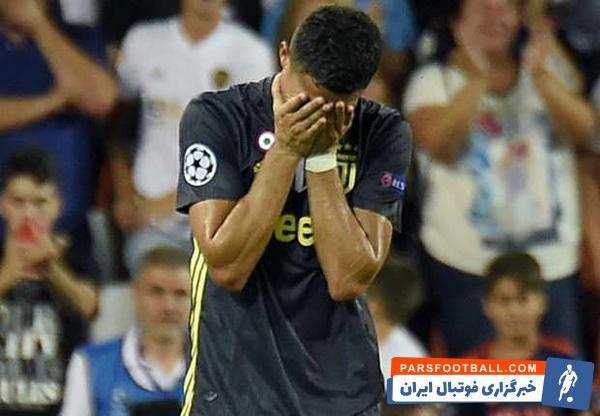رونالدو در دیدار برابر تیم فوتبال والنسیا به خاطر برخورد با موریو اخراج شد