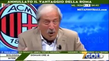 میلان ؛ واکنش عجیب و غریب کرودلی گزارشگر تیم میلان به گل دقیقه 95 کوترونه به رم
