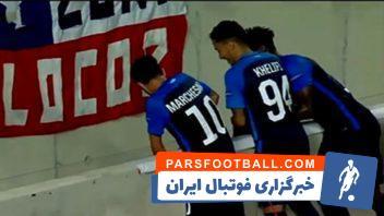 سقوط آزاد بازیکن زوریخ در شادی پس از گل
