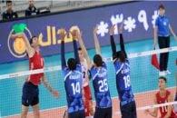 شکست والیبال ایران برابر آمریکا