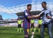 بارسلونا ؛ یادگاری مسی به آگیرتکس پیش از بازی بارسلونا و رئال سوسیداد
