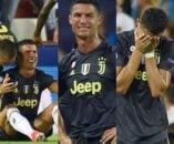 اخراج عجیب رونالدو در دیدار یوونتوس و والنسیا در لیگ قهرمانان اروپا