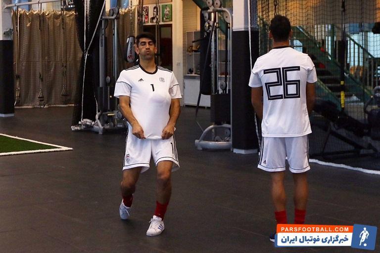 بیرانوند گلر ملی پوش پرسپولیس در تمرین تیم ملی فوتبال شرین کاری جالبی را انجام داد