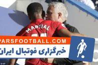 آنتونی مارسیال در تابستان به بازیکن مغضوب مورینیو تبدیل شده بود مارسیال در دیدار دیروز مقابل چلسی، دو گل زد تا با آغوش باز سرمربی تیمش مواجه شود.