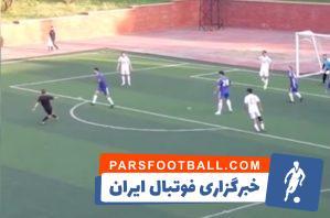 داور ؛ جوگیر شدن و گلزنی داور در مسابقه فوتبال