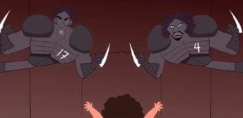 انیمیشن طنز از تونل وحشت آرسنال به مناسبت هالووین