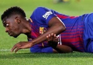دمبله ؛ عثمان دمبله ستاره تیم فوتبال بارسلونا به خاطر بی نظمی در خانه جریمه شد