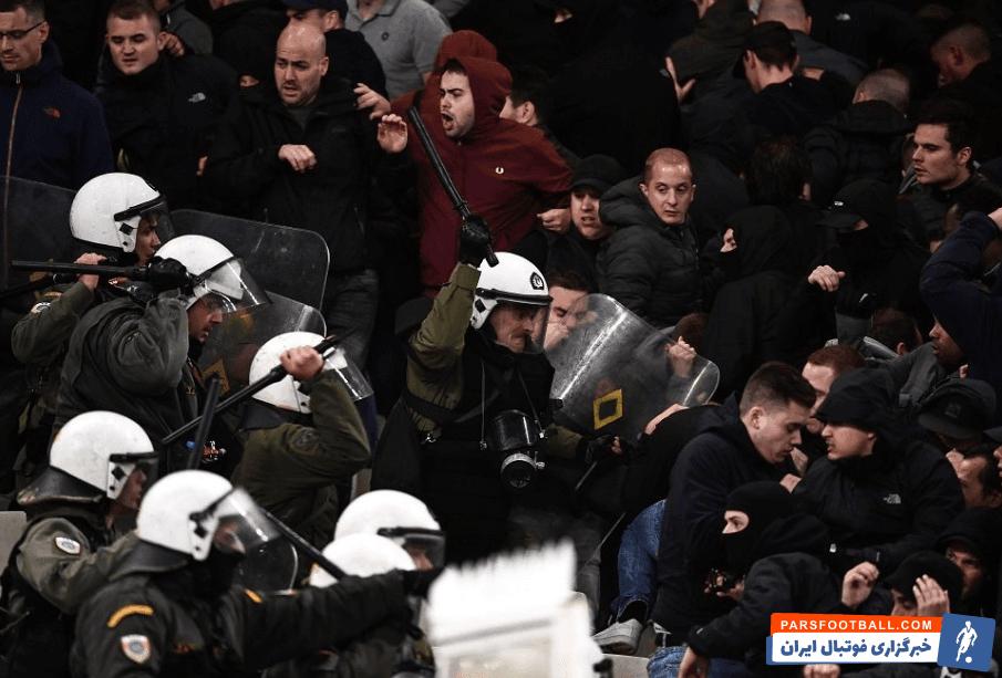 لیگ قهرمانان ؛ درگیری هواداران آ اک یونان و آژاکس در لیگ قهرمانان اروپا