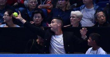 حضور کریستیانو رونالدو در مسابقات تنیس لندن