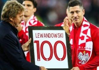 قدردانی از لواندوفسکی به مناسبت صدمین بازی ملی