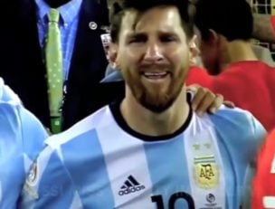 لحظات غم انگیز ستارگان فوتبال در مستطیل سبز