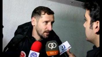 کلیپی از مصاحبه ی محمدرضا خلعتبری بازیکن تیم فوتبال پدیده مشهد پس از تساوی با استقلال