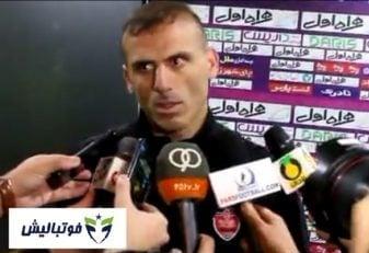 مصاحبه اختصاصی با سید جلال حسینی در پایان دیدار پرسپولیس و ذوب آهن