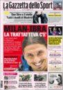 عناوین روزنامه گازتا دلو اسپورت ایتالیا 7 خرداد 95