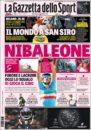 عناوین روزنامه گازتا دلو اسپورت ایتالیا 8 خرداد 95