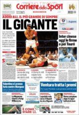 عناوین روزنامه کوریره دلو اسپورت ایتالیا 16 خرداد 95