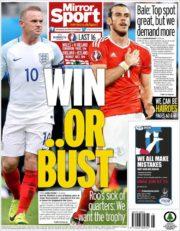 روزنامه میرور اسپورت بریتانیا 4 تیر 95