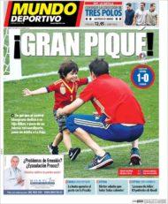 عناوین روزنامه ال موندو دپورتیوو اسپانیا 25 خرداد 95