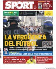 عناوین روزنامه اسپورت اسپانیا 24 خرداد 95