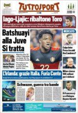 عناوین روزنامه توتو اسپورت ایتالیا 3 تیر 95