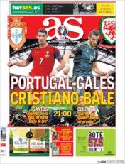 عناوین روزنامه آ.اس اسپانیا 16 تیر 95