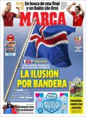 عناوین روزنامه مارکا اسپانیا 13 تیر 95