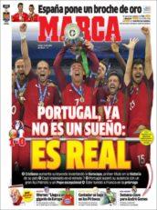 عناوین روزنامه مارکا اسپانیا 21 تیر 95